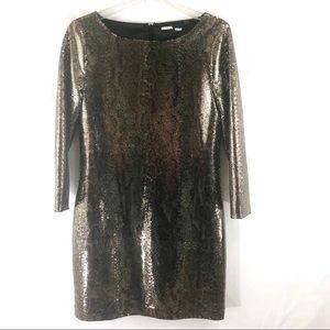Gold Python Snakeskin Dress